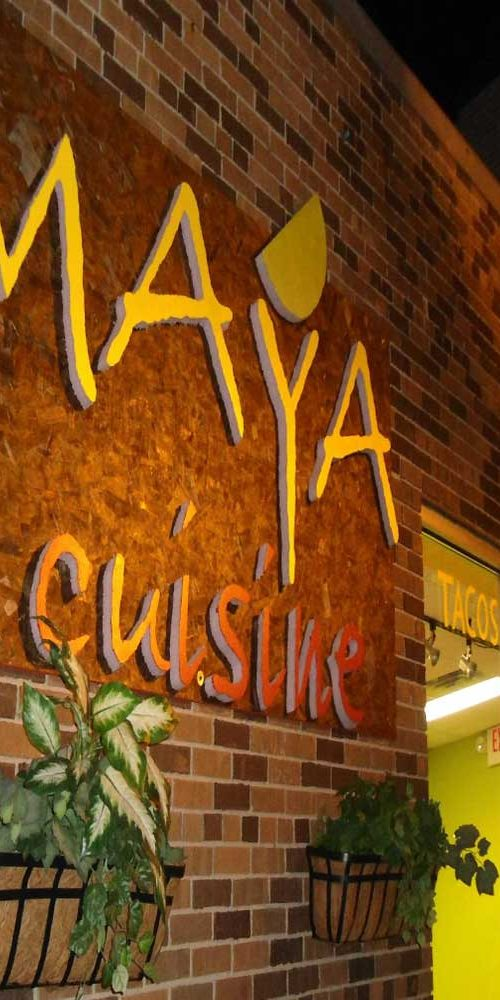 Maya Cusine entrance at central ave ne
